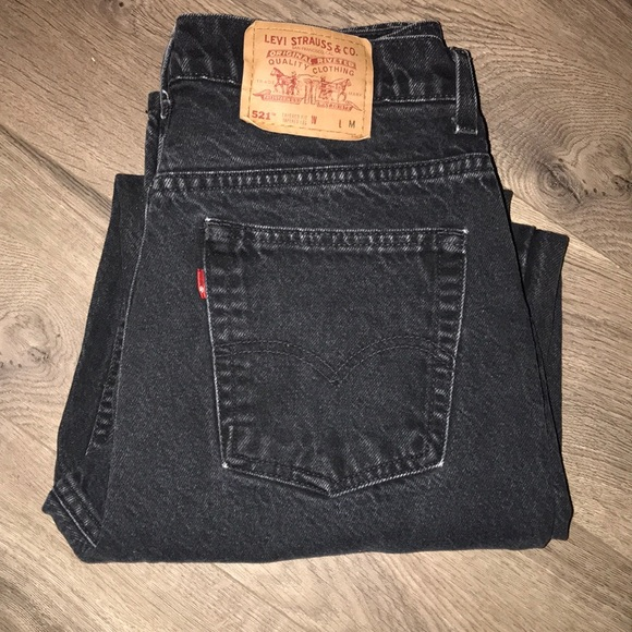 Vintage Black Wash Denim Levi's Jeans by Levi's